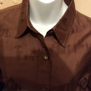 Chicos Brown silk jacket